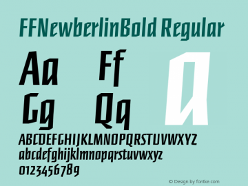 FFNewberlinBold Regular Macromedia Fontographer 4.1 12/26/97图片样张