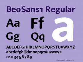 BeoSans1 Regular Macromedia Fontographer 4.1 12/25/97图片样张