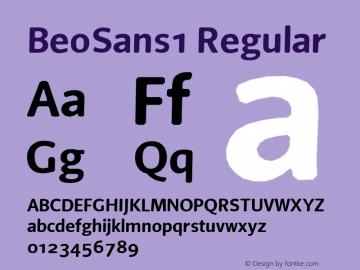 BeoSans1 Regular Macromedia Fontographer 4.1 12/25/97 Font Sample