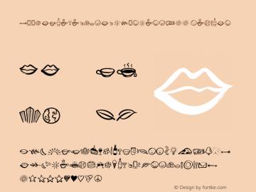 ZoojaElementsandBordersW00 Regular Version 1.00 Font Sample