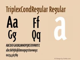 TriplexCondRegular Regular Version 1.00 Font Sample