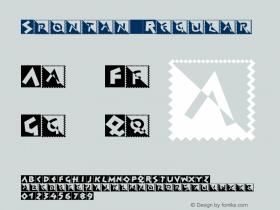 Spontan Regular Version 001.000 Font Sample
