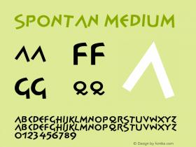 Spontan Medium Version 001.000 Font Sample