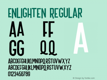 Enlighten Regular Version 1.000;PS 001.000;hotconv 1.0.88;makeotf.lib2.5.64775 Font Sample