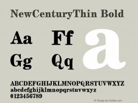 NewCenturyThin Bold 1.0 Tue Sep 20 17:46:46 1994 Font Sample