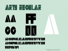 Arty Regular Altsys Metamorphosis:11/13/94 Font Sample