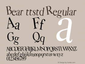 Bear ttstd Regular Altsys Metamorphosis:11/12/94图片样张