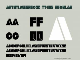 ArtyTimesReg52 ttcon Regular Altsys Metamorphosis:10/27/94 Font Sample