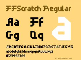 FFScratch Regular 001.000 Font Sample