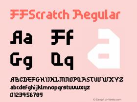 FFScratch Regular 001.001 Font Sample