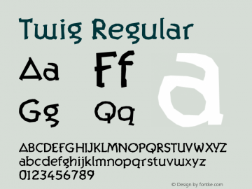 Twig Regular Version 1.000;PS 001.000;hotconv 1.0.38图片样张