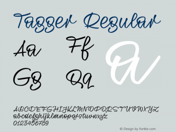 Tagger Regular Version 1.000;PS 001.000;hotconv 1.0.88;makeotf.lib2.5.64775图片样张