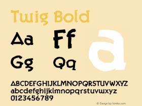 Twig Bold Version 1.000;PS 001.000;hotconv 1.0.38 Font Sample