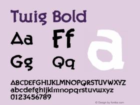 Twig Bold Version 001.000 Font Sample