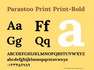 Parastoo Print Print-Bold Version 1.0.0-alpha1 Font Sample