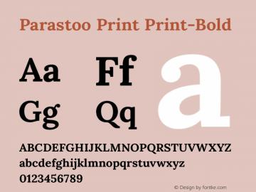 Parastoo Print Print-Bold Version 1.0.0-alpha2 Font Sample