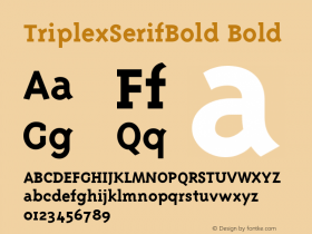 TriplexSerifBold Bold Version 1.00图片样张