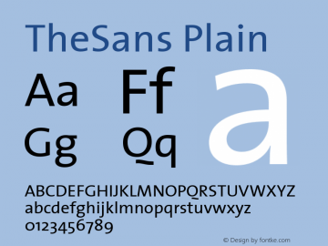 TheSans Plain Macromedia Fontographer 4.1 12/26/97 Font Sample