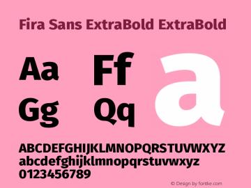 Fira Sans ExtraBold Font Family|Fira Sans ExtraBold-Sans