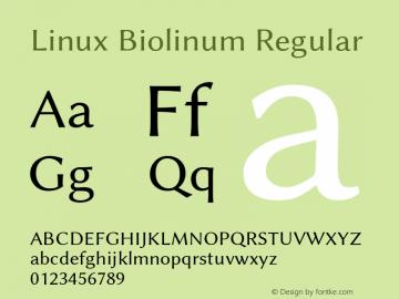 Linux Biolinum Regular Version 1.1.8 ; ttfautohint (v0.9)图片样张
