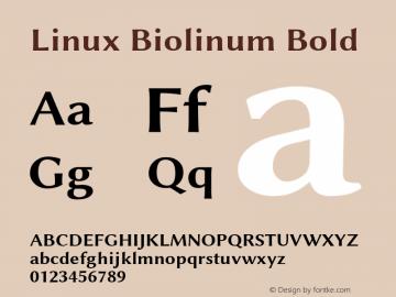 Linux Biolinum Bold Version 1.3.2 ; ttfautohint (v0.9)图片样张