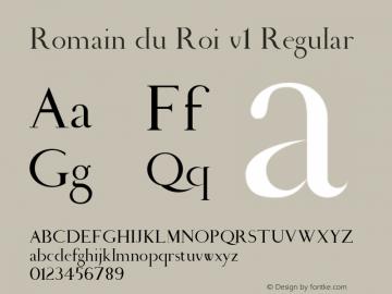 Romain du Roi v1 Regular Unknown Font Sample