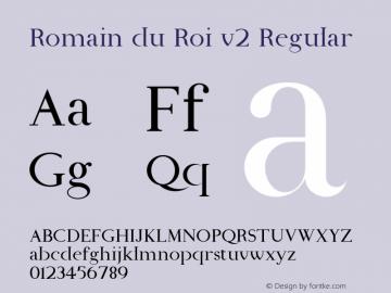 Romain du Roi v2 Regular Unknown Font Sample