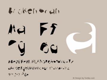 Broken Scan Version 0.02 Font Sample