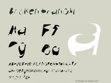 Broken ScanObl Version 0.02 Font Sample