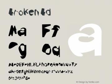 Broken Bd Version 0.02 Font Sample