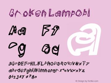 Broken LampObl Version 0.02 Font Sample