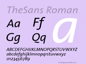 TheSans Roman Version 1.00 Font Sample