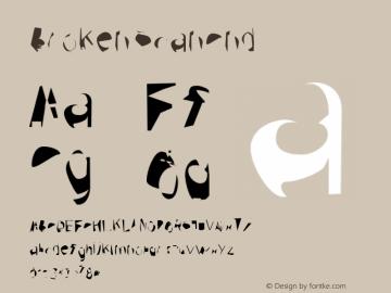 Broken ScanCnd Version 0.02 Font Sample