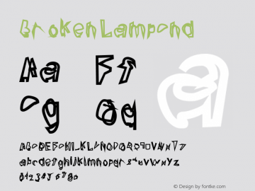 Broken LampCnd Version 0.02 Font Sample