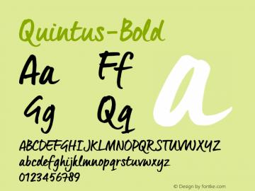 Quintus-Bold ☞ Version 1.000;com.myfonts.easy.joebob.quintus.bold.wfkit2.version.4Ete Font Sample
