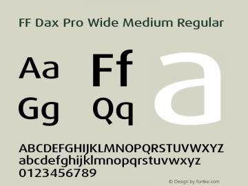 FF Dax Pro Wide Medium Regular Version 7.504; 2009; Build 1021;com.myfonts.easy.fontfont.ff-dax.pro-wide-medium.wfkit2.version.4fBb Font Sample