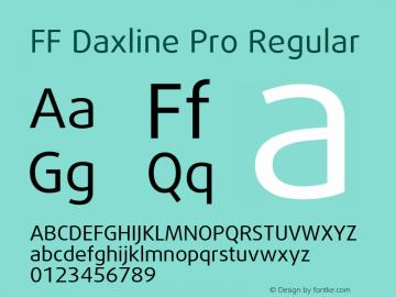 ff daxline pro bold