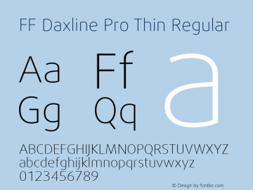 FF Daxline Pro Thin Regular Version 7.504; 2010; Build 1021;com.myfonts.easy.fontfont.daxline.pro-thin.wfkit2.version.4gNM Font Sample