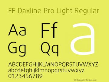 FF Daxline Pro Light Regular Version 7.504; 2010; Build 1021;com.myfonts.easy.fontfont.daxline.pro-light.wfkit2.version.4fyh Font Sample