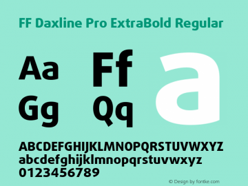 FF Daxline Pro ExtraBold Font Family|FF Daxline Pro ExtraBold-Sans