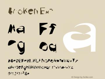 Broken Ext Version 0.02 Font Sample