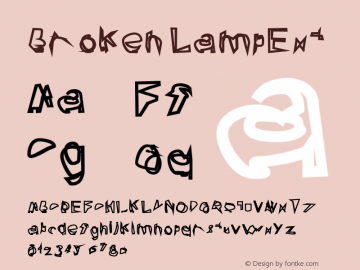 Broken LampExt Version 0.02 Font Sample