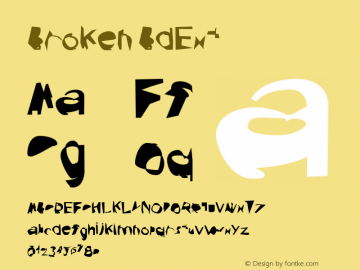 Broken BdExt Version 0.02 Font Sample