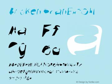 Broken ScanExtObl Version 0.02 Font Sample