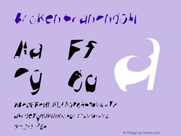 Broken ScanCndObl Version 0.02 Font Sample
