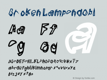 Broken LampCndObl Version 0.02 Font Sample
