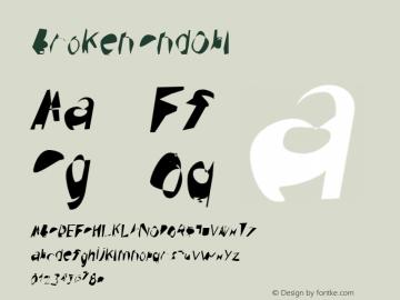 Broken CndObl Version 0.02 Font Sample