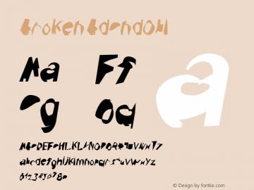 Broken BdCndObl Version 0.02 Font Sample