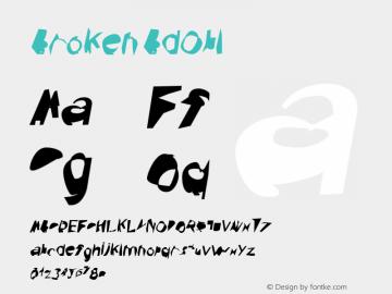 Broken BdObl Version 0.02 Font Sample