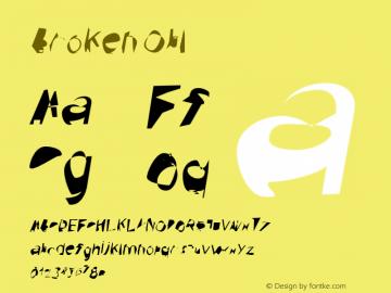 Broken Obl Version 0.02 Font Sample